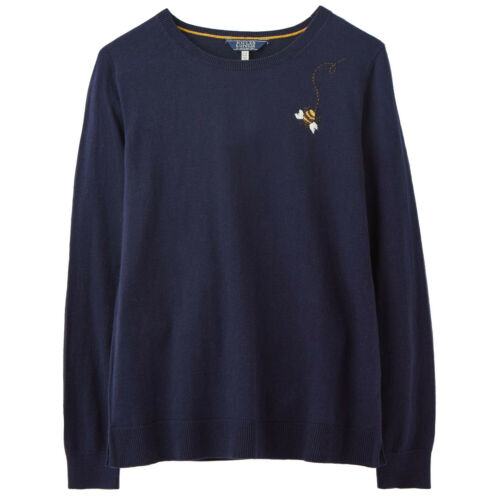 Joules Tina Pull Femme Knits-bleu marine Bee Toutes Tailles