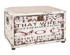Sitztruhe Spielzeugkiste Kiste Vintage Truhe Haku Weiß Box