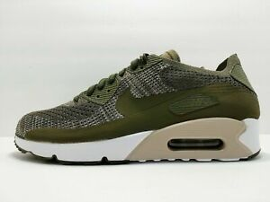 7996ff90bce9 Nike Air Max 90 Ultra 2.0 Flyknit Mens 875943-200 Olive Running ...