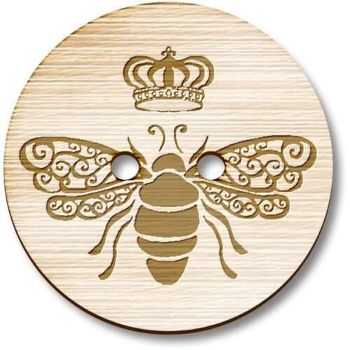 BT009849 /'Queen Bee/' Wooden Buttons