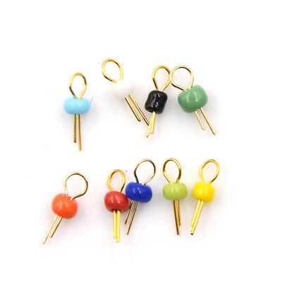50Pcs Gold Tone Blue Breadboard Test Point Pin Soldering Pcb Board New Ic ik