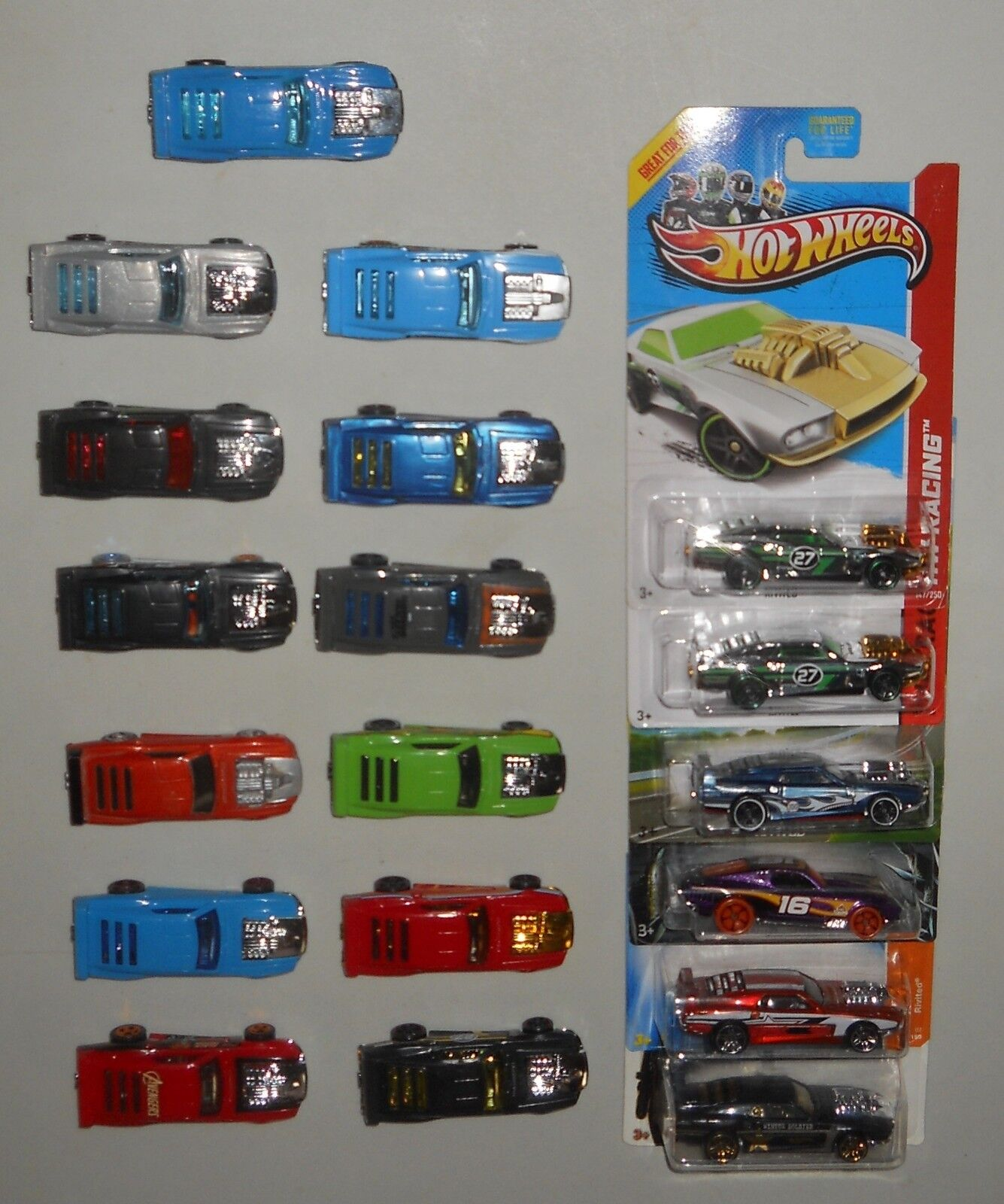 Lote de 19 Hot Wheels Rivited Menta todas las versiones Exclusives Raro'70'71 Mustang