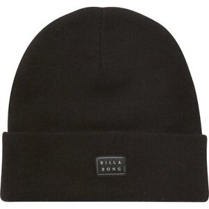 13a102faf8 Image is loading NWT-MENS-BILLABONG-DISASTER-BLACK-KNIT-BEANIE-WINTER-