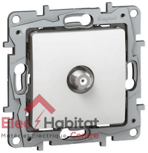 Details about Outlet TV Type F Niloe White Legrand 664750