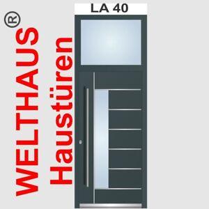 Details zu Haustür Aluminium mit Kunststoff Inkl. Oberlicht WeltHaus WH75  Tür