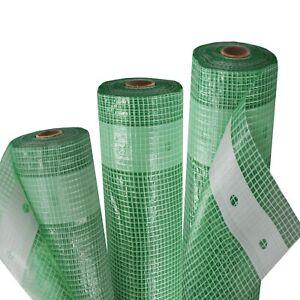 3m Gewächshausfolie Gitterfolie Frühbeetfolie Gewebeplane 250g 4m breit grün UV