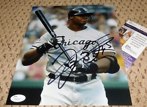 info for cbaee 7f43e Details about FRANK THOMAS SIGNED 8X10 PHOTO JSA AUTOGRAPH WHITE SOX  BASEBALL THE BIG HURT