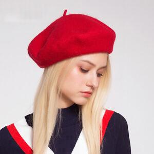 Elegant Lady Women Wool Felt Warm French Classic Beret Beanie Slouch ... 1b9c275402a7