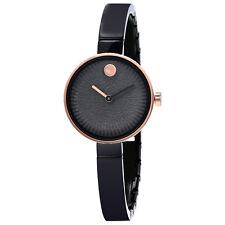 Movado Edge Black Lava Textured Dial Ladies Watch 3680025
