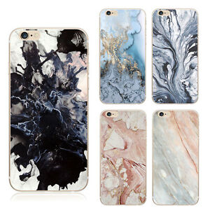Ultra-Slim-Marble-Rubber-Soft-Silicone-Case-Cover-For-Apple-iPhone-5-6S-7-7-Plus