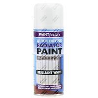 1 x Radiator Enamel White Gloss Paint Spray Aerosol 200ml DIY Metal Wood Etc.