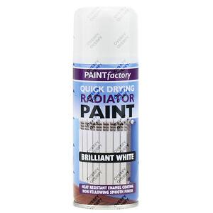 8 X Radiator Enamel White Gloss Paint Spray Aerosol 200ml Diy Metal Wood Etc Ebay