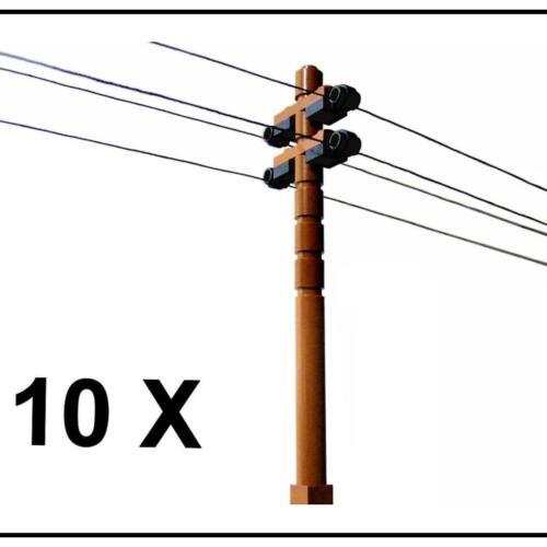 ☆NEW☆ 10 Lego City Train Town Telephone Power Lines Phone Poles 25ft Thread Inc!