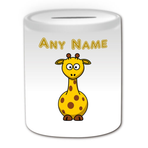 Cadeau personnalisé Girafe tasse Argent Boîte tasse de café nom personnaliser message Silly