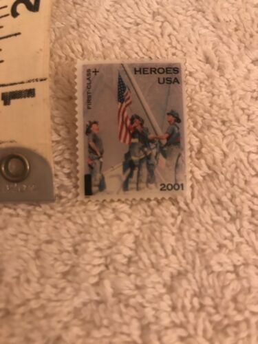 2001 Heroes Usa Post Office Stamp Pin