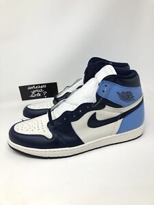 Details about Nike Air Jordan 1 One Obsidian Blue UNC Size 17 Retro High 555088 140 New DS