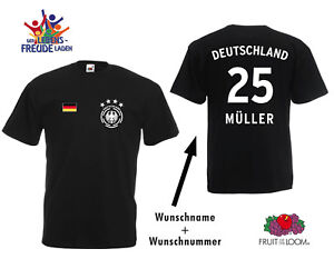 62fcce9e750 Germany Football T-Shirt 4 Star Emblem + Desired Name + Desired ...