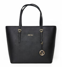 Vestino Damenhandtasche Shopper mit Rei?verschluss Handtasche Bag Logo-Anh?nger