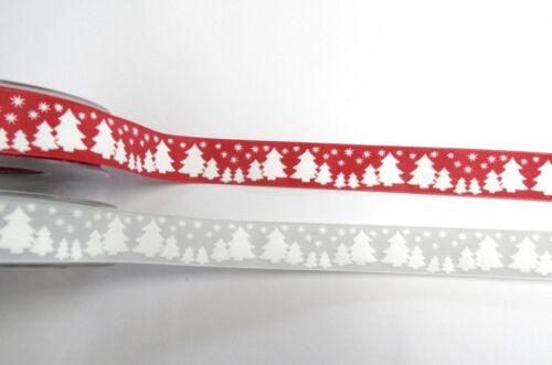 2m Motivband 1,395€//m Winterwald Satinband Winter 25mm