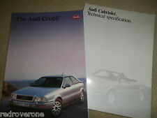 """AUDI COUPE FOLLETO & especificaciones técnicas"""" .1992/3 Coleccionistas condición"""