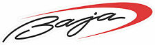 """BAJA Boat Graphic 12 x 2.5""""   DECALS 2 decals - Black And Red Combo made fresh"""