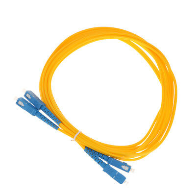 Magideal Single Mode Single-Core Fiber Patch Cable SC-SC Yellow 5 Meter