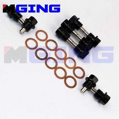 Universal M14 X 1.25 Engine Magnetic Oil Pan Drain Plug Blots Kit Crush Washer S