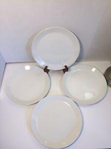 Johnson-Bros-England-Ironstone-Tivoli-White-Dinner-Plates-Lot-Of-4-One-Snowwhite