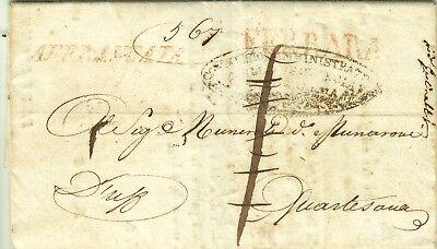 1026-stato Pontificio, Pref., Da Ferrara A Quartesana, 1845