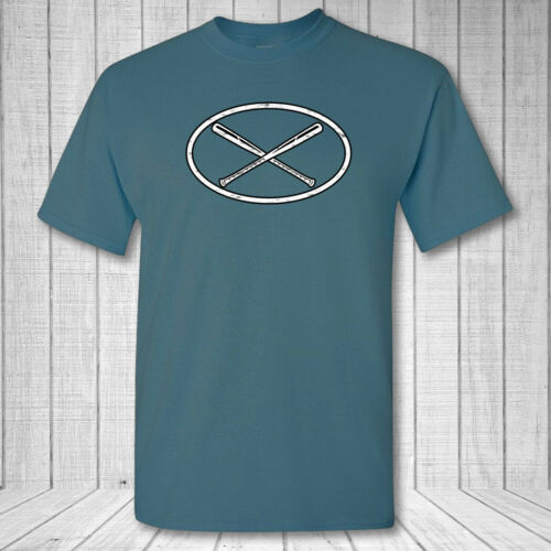 Baseball Oval T-Shirt baseball bat emblem logo shirt Softball bat oval shirt