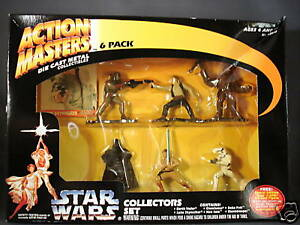 Action Masters Star Wars Collectors Set Die Cast Metal Collectibles 6 Pack New
