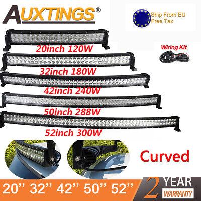 32/'/' 42/'/' 52/'/' 120W 240W 300W Curved LED LIGHT BAR WORK BEAM 4WD BOAT OFFROAD EU