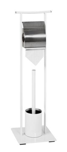 45344 Weiss Hochglanz Lack WC-Garnitur Bürstengarnitur Rollenhalter Mod