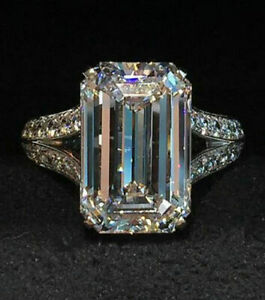 25ct emerald engagement ring sterling silver 925 solid split shank ring new gift