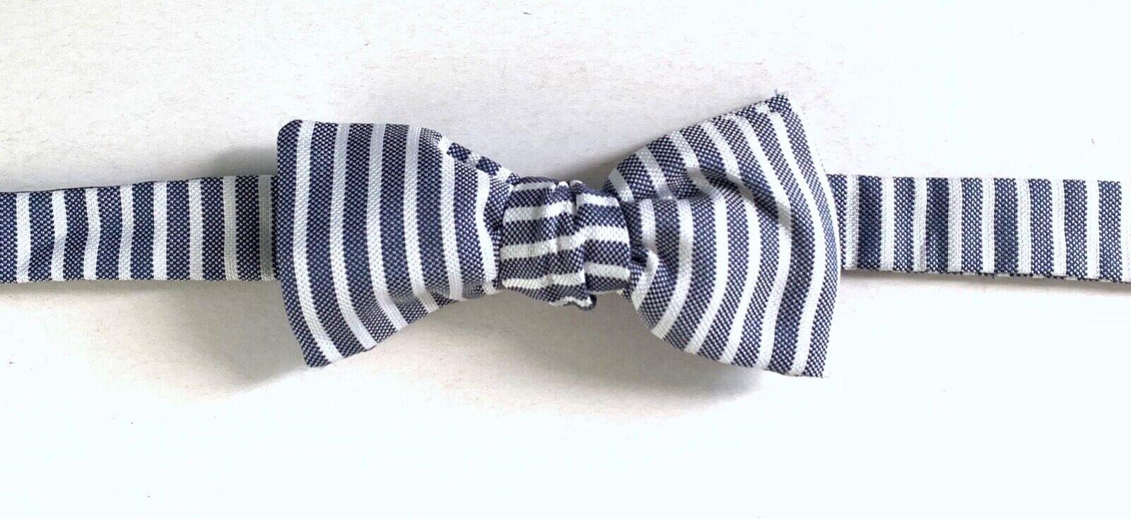 Hackett London Oxford Stripe Silk Bowtie, Multi