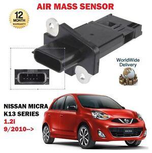 FOR-NISSAN-MICRA-K13-1-2i-HR12DE-12v-ENGINE-9-2010-gt-NEW-AIR-MASS-SENSOR