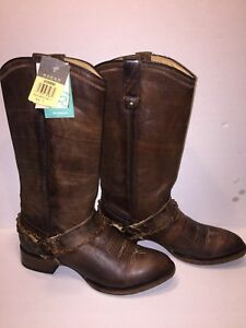 8ee5cacef9314 Details about Roper Women's Selah Leather Harness Boot Pointy Toe Sz. 9M  09-021-7524-1417