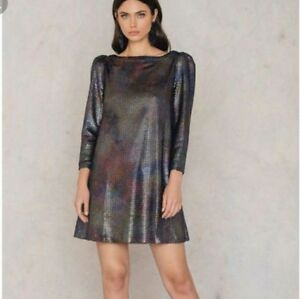 Free-People-Diamonds-Are-Forever-Silver-Dress-XS