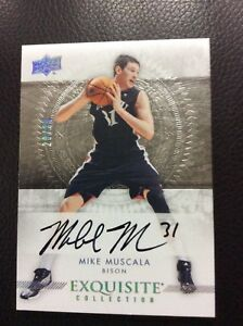 2013-14-Upper-Deck-UD-Exquisite-Mike-Muscala-RC-20-25-On-card-AUTO-AUTOGRAPH