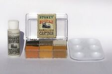 SMC-908 N-Scale 6 Color Weathering Kit, 2 oz. Solution, w/Paint Tray & Inst.