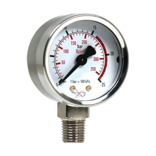 "WIKA 111.10.050 Manometer 25 bar lb//in² 1//4/"" NPT Ø 50 mm senkrecht"