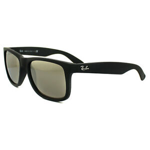 04534314a0 Ray-Ban Sunglasses Justin 4165 622 5A Black Gold Mirror Large 55mm ...