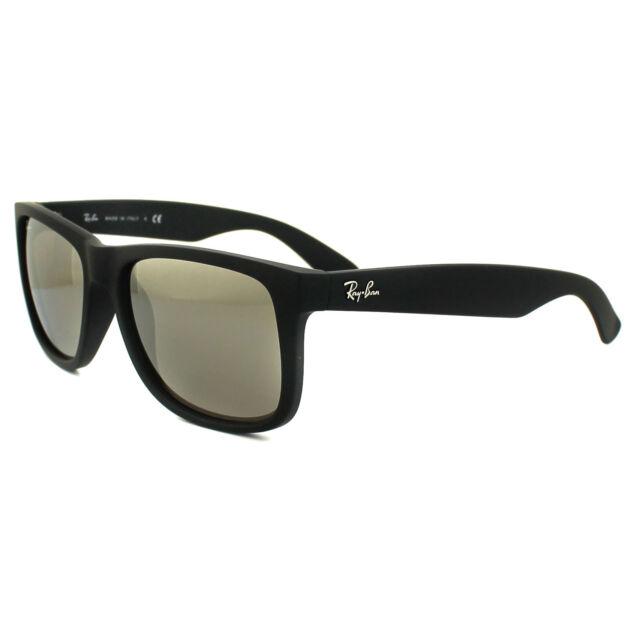 83a9c24d75b7e Ray-Ban Sunglasses Justin 4165 622 5a Black Gold Mirror Large 55mm ...