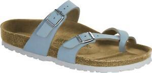 Details about Birkenstock MAYARI 1016638 (Reg) Ladies Birko Flor Cross Strap Sandals Sky Blue