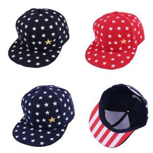 Boy Girls Kids Baby Baseball Cap Stars Hip Hop Toddler Snapback Beanie Sun Hat