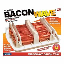 Might be DAMAGED/ USED/ Missing pieces EMSON BACON WAVE Microwave Bacon Cooker