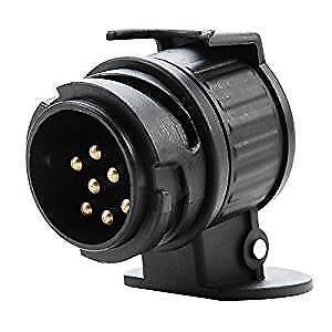 13-A-7-Pin-Plug-Adaptateur-Remorque-12-V-Attelage-de-Remorquage-Caravane-Camion
