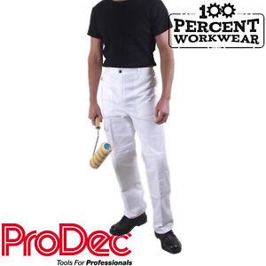 Symbole De La Marque Haute Qualité Professionnelle Peintres Décorateurs En Coton Blanc Pantalons De Travail Pantalons Pantalon-afficher Le Titre D'origine