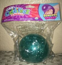 2 ORB ODDITEEZ SLIMIBALLZ SQUEEZE /& SPLAT Squishy Slime Filled Ball,gold /& blue.