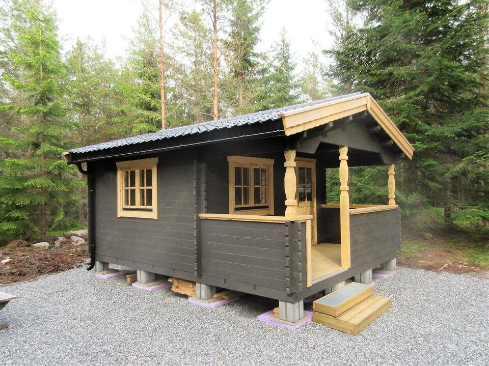 Bjælkehytte m. terrasse, vælg ml. 5-30 m2 - NID...